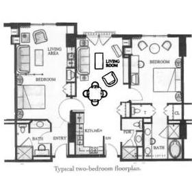 Marriott's Grand Chateau - Unit Floor Plan