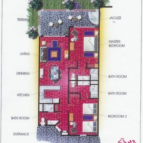 Hacienda del Mar Resort — Presidential Floorplan