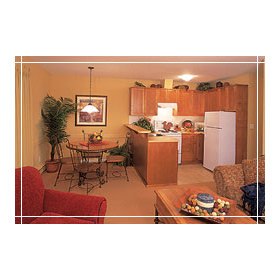 Lake Okanagan Resort - Unit Dining Area & Kitchen