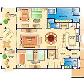 Villa del Palmar Flamingos - Unit Floor Plan