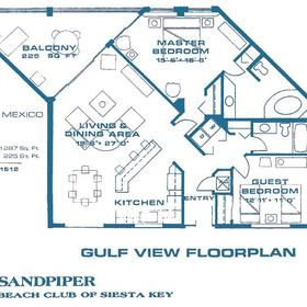 Sandpiper Beach Club - Unit Floor Plan