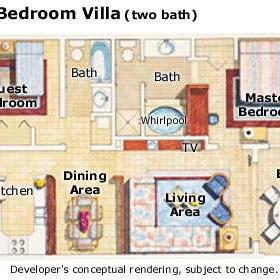 Paradise Island Beach Club - Unit Floor Plan
