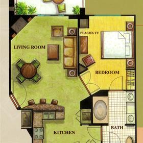 Tahiti Village - Unit Floor Plan