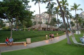 View from the beach looking the Marriot Ko'Olina