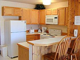 Kitchen at Lake Condominiums at Big Sky
