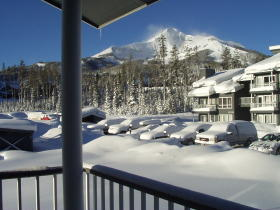 Bedroom View at Lake Condominiums at Big Sky