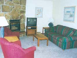 Twin Rivers Condominiums - Unit Living Area