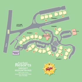 Wyndham Smoky Mountains - Resort Map