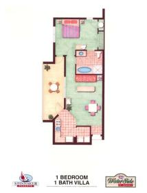 Waterside by Spinnaker - One Bedroom Floor Plan