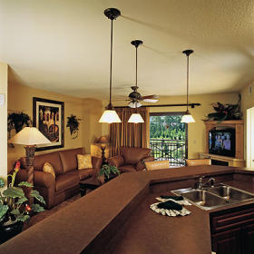 Wyndham Bonnet Creek Resort- Unit Living Area