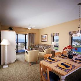 Wyndham Bay Club II - Unit Living Area