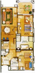 Marriott's Phuket Beach Club - Unit Floor Plan
