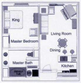 Club de Soleil - One-Bedroom Floor Plan