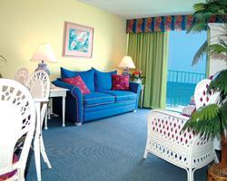 Maritime Beach Club - ocean front living room with balcony
