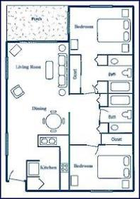Coconut Mallory Marina and Resort - Unit Floor Plan