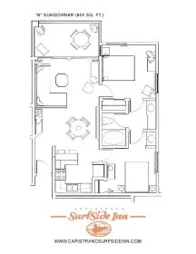 Capistrano Surfside Inn - Unit Floor Plan