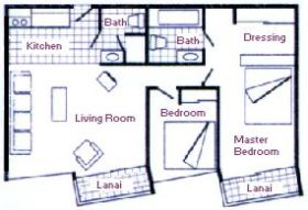 Imperial Hawaii Vacation Club - Unit Floor Plan