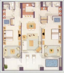 The Grand Mayan Riviera Maya - Grand Suite Floor Plan