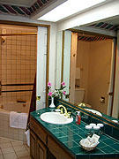 Unit Bathroom at the Plaza Resort Club