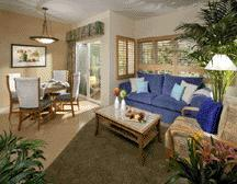 Lawrence Welk Resort Villas - Unit Living & Dining Areas