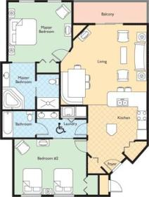 Wyndham Nashville - Unit Floor Plan