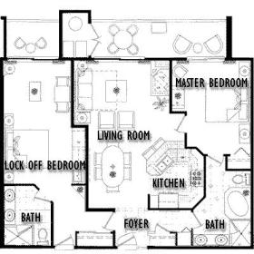 David Walley's Hot Springs Resort and Spa - Unit Floor Plan