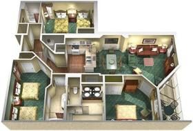 Marriott's SurfWatch - Unit Floor Plan