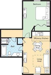 Wyndham Kingsgate - one-bedroom unit floor plan