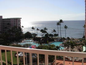 Ka'anapali Beach Club - view from oceanview or oceanfront unit lanai