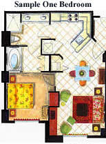 Grandview at Las Vegas - One-Bedroom Floor Plan