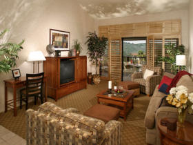 Lawrence Welk Resort Villas - Unit Living Area