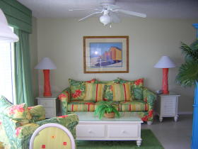 Coconut Palms II Beach Resort - Unit Living Area