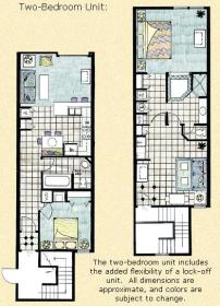 Barefoot'n in the Keys at Old Town - Two Bedroom Floor Plan
