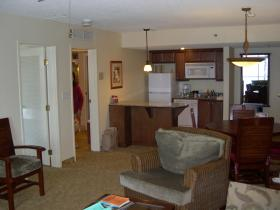 Ka'anapali Beach Club - unit living area and kitchen