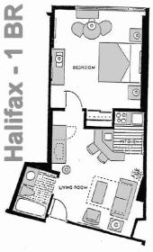 The Americano Beach Resort - Halifax Floor Plan