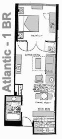The Americano Beach Resort - Atlantic Floor Plan