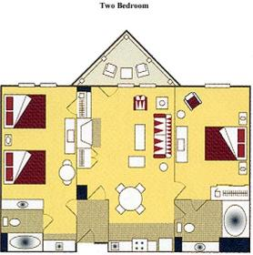 Lake Tahoe Vacation Resort - two-bedroom floor plan