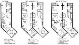Floor Plans for the Caloosa Cove Resort