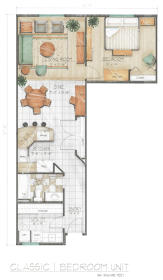 Midtown Village - Classic One Bedroom Floor Plan