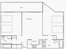 One Bedroom Layout (may be variations)