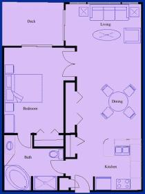 Lehigh Resort Club - Unit Floor Plan
